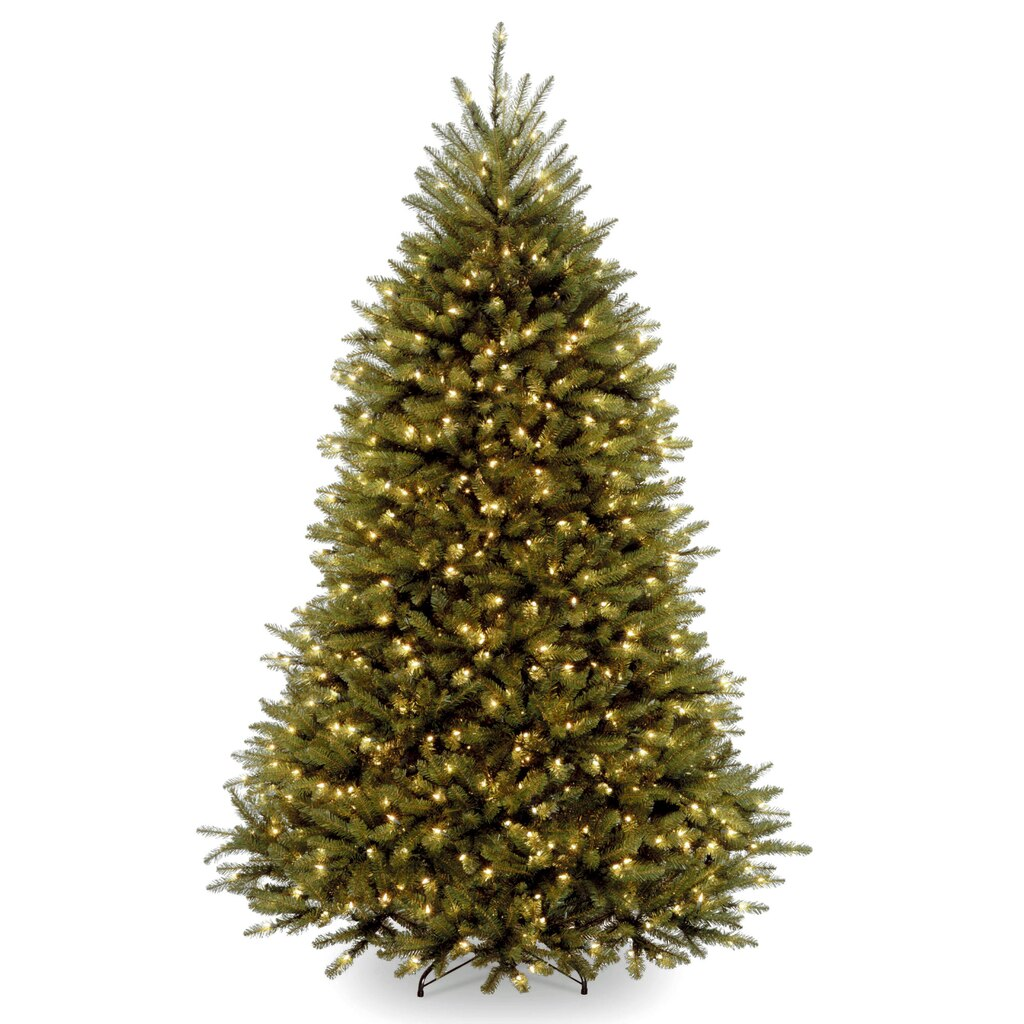 6 ft pre lit dunhill fir full artificial christmas tree clear lights - 6 Christmas Tree