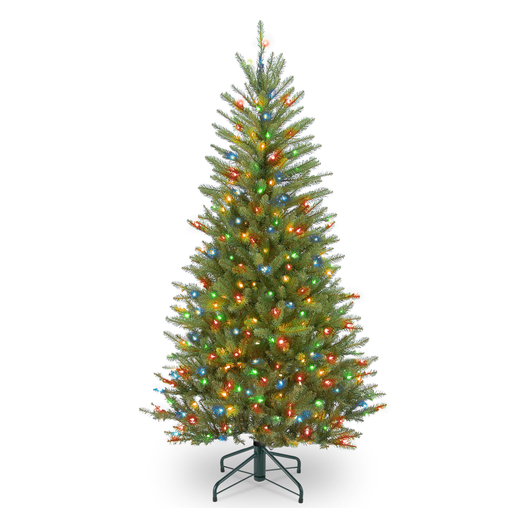 By the 4.5 ft. Pre-Lit Dunhill® Fir Slim Artificial Christmas Tree ...