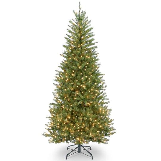 Buy The 7 5 Ft Pre Lit Dunhill® Fir Slim Artificial Christmas  - Pre Lit Pencil Christmas Tree