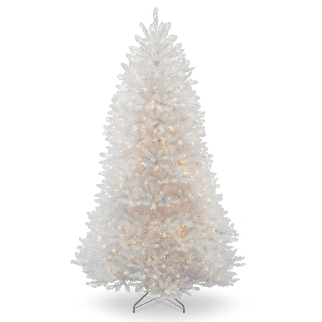 slim pre lit christmas tree 75 by buy the 7 5 ft pre lit white dunhill - 75 White Christmas Tree