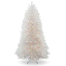pre lit white dunhill fir full artificial christmas tree clear - White Pre Lit Christmas Tree