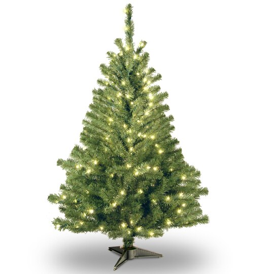 4 ft pre lit kincaid spruce artificial christmas tree clear lights - 4 Christmas Tree