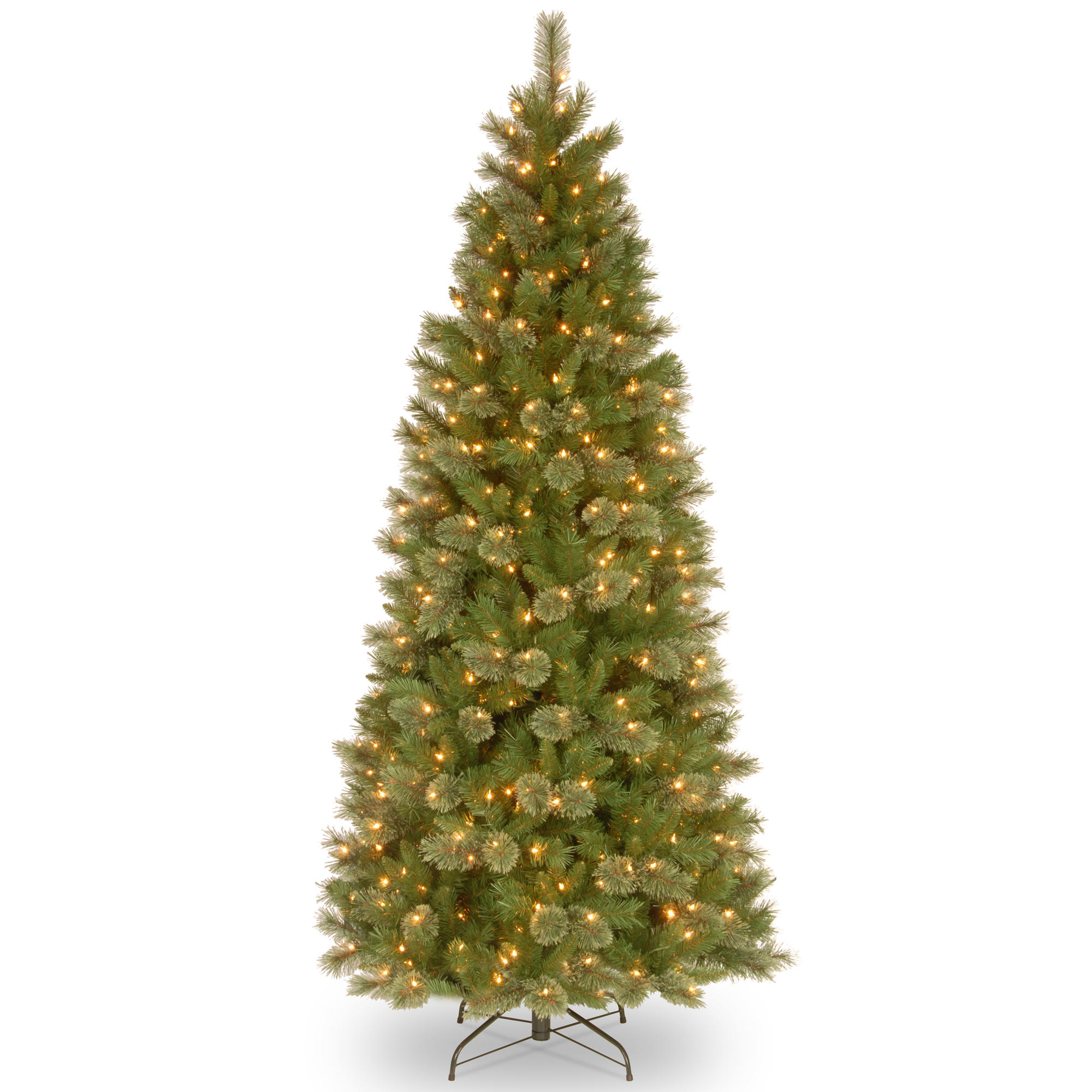 Buy the 7.5 ft. Pre-Lit Tacoma Pine Slim Artificial Christmas Tree ...