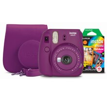Fujifilm Instax Mini 9 Camera Bundle, Plum