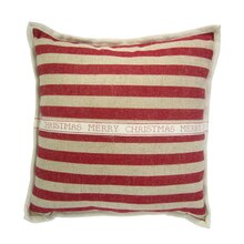 Red Striped Christmas Pillow By Ashland