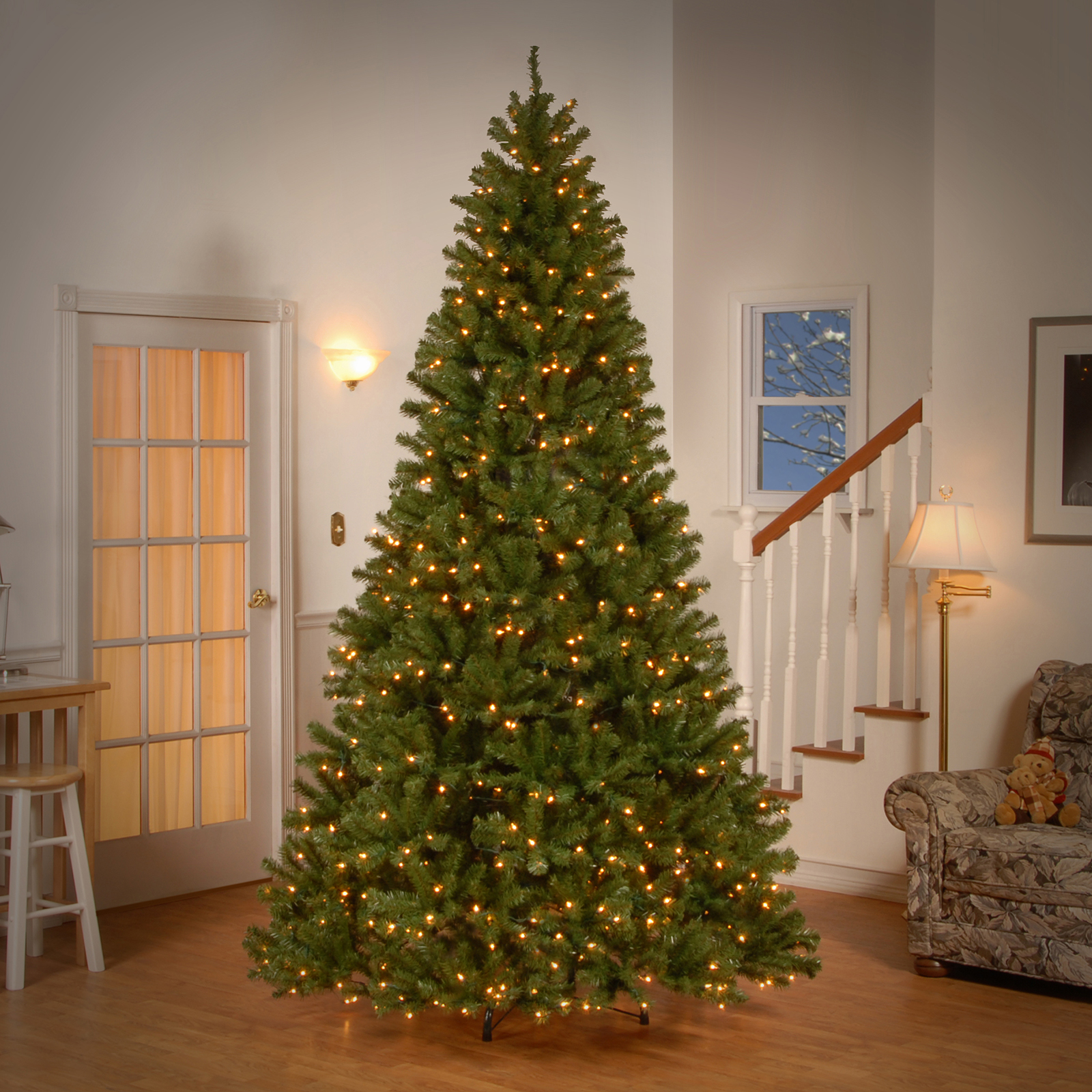 Get the 9 ft. Pre-lit North Valley Spruce Full Artificial ...