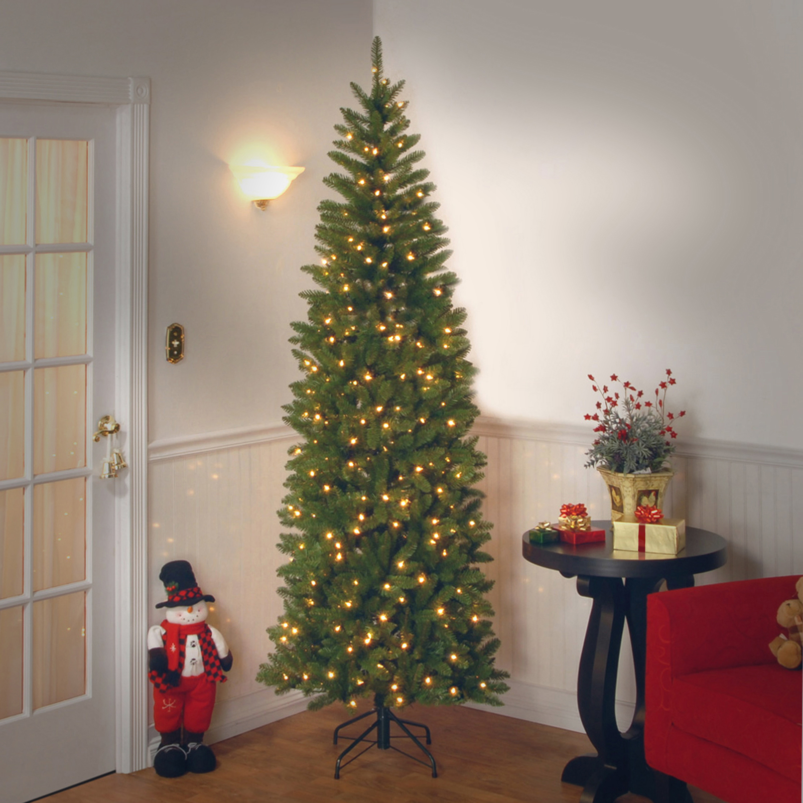 Buy the 6.5 ft. Pre-lit Kingswood Fir Pencil Artificial Christmas ...