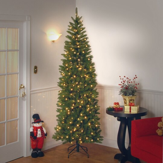 Buy The 6 5 Ft Pre Lit Kingswood Fir Pencil Artificial Christmas  - Fix Christmas Tree Lights On A Pre Lit