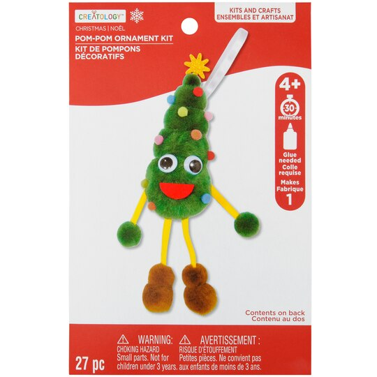 Buy the Christmas Tree Pom Pom Ornament Kit By Creatology at Michaels