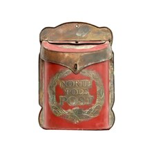 Red Tin Mail Box By Ashland