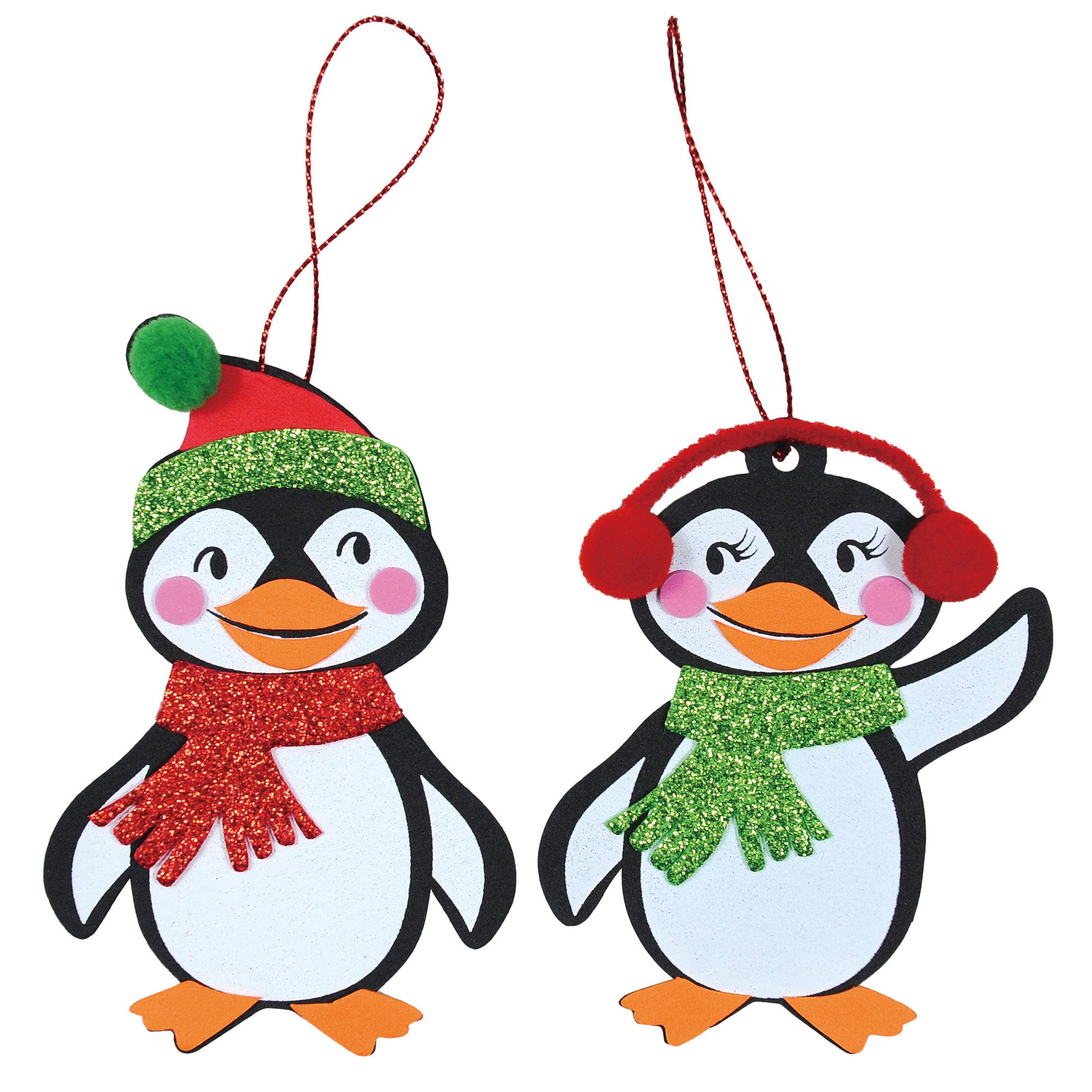 Buy the Penguin Ornaments Foam Craft Kit By Creatology™ at Michaels
