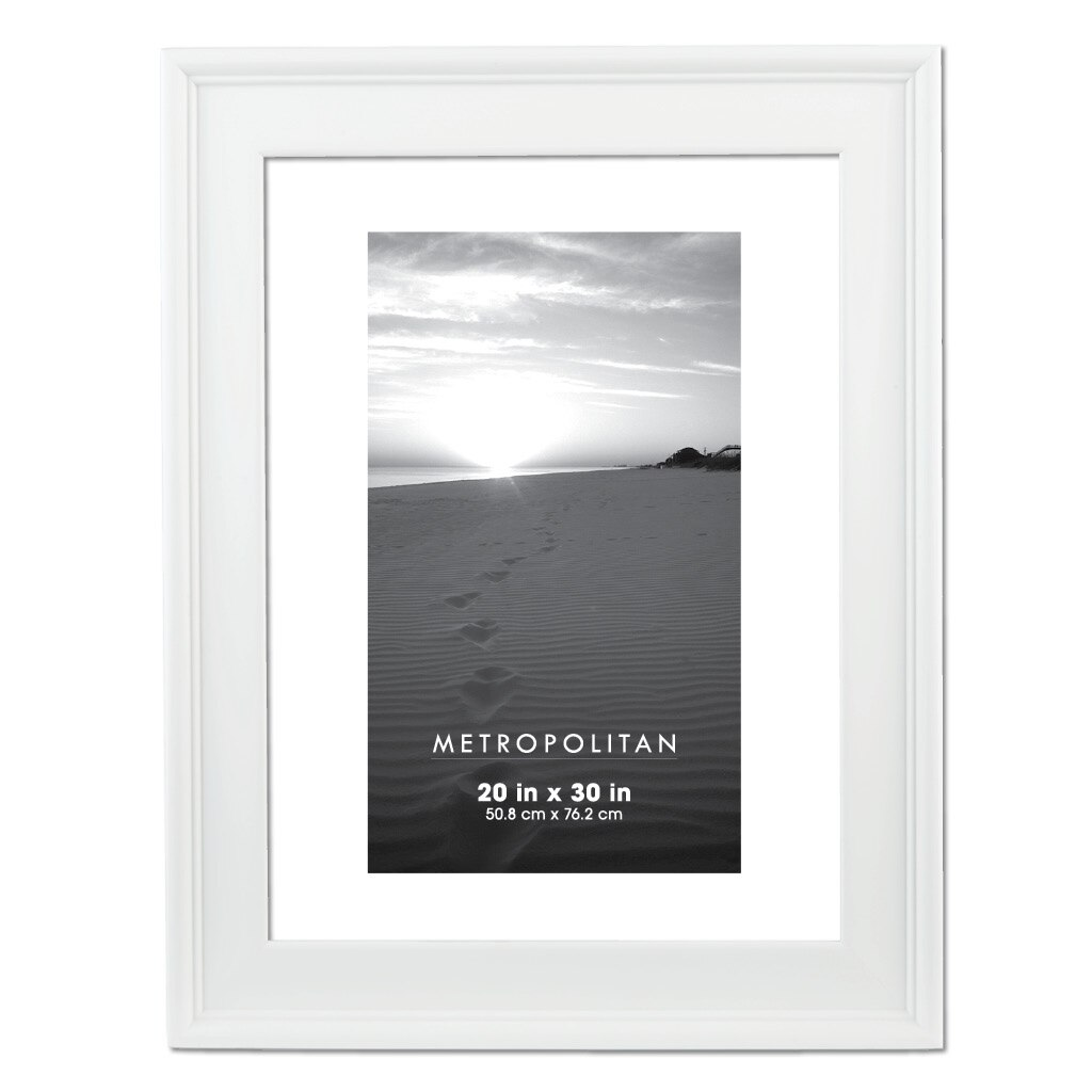 White Metropolitan Frame by Aaron Brothers