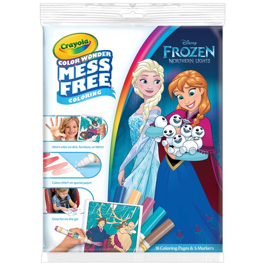 crayola color wonder disney frozen paper markers