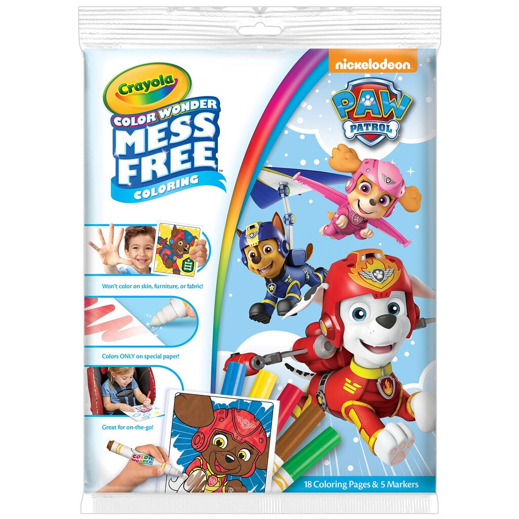 find the crayola color wonder paw patrol papers u0026 markers at