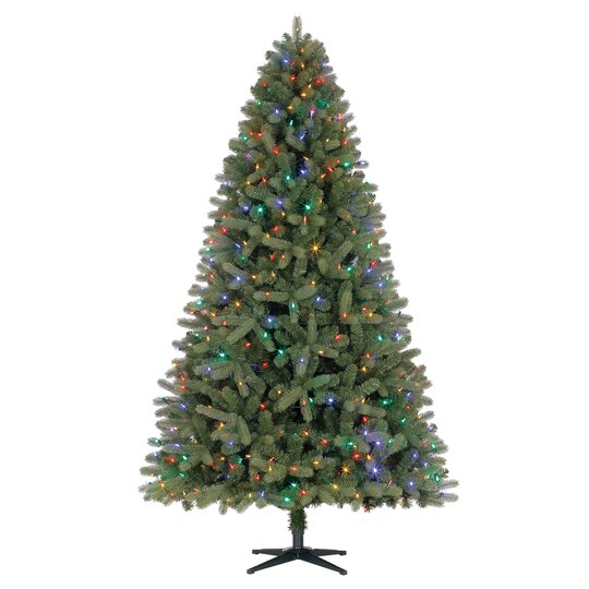 75 ft pre lit fremont pine full artificial christmas tree color changing led lights by ashland - Full Christmas Tree
