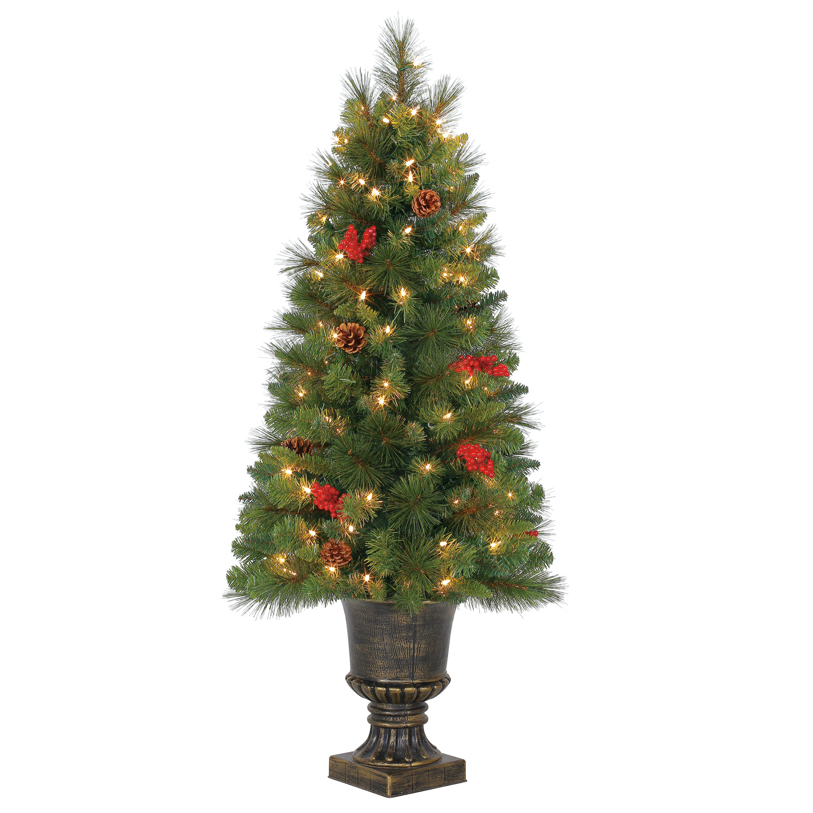 Buy the 4 Ft. Pre-Lit Green Verona Artificial Christmas Tree ...