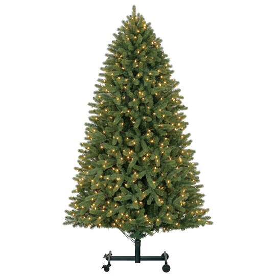 9 ft pre lit grand spruce grow stow quick set full artificial christmas tree warm led lights by ashland - 9 Christmas Tree