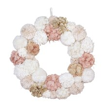 Pom Pom Wall Wreath By Ashland