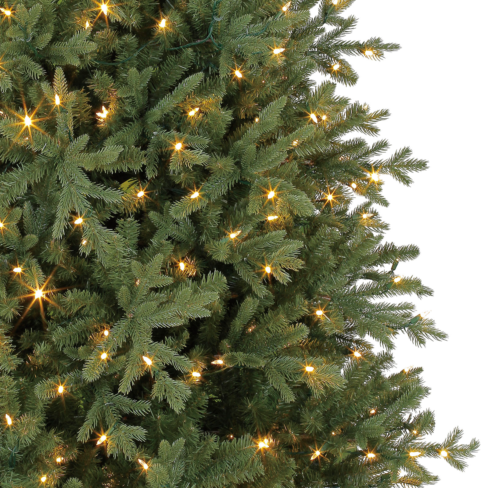 7.5 Ft. Pre-Lit Hinged Victoria Spruce Full Artificial Christmas ...