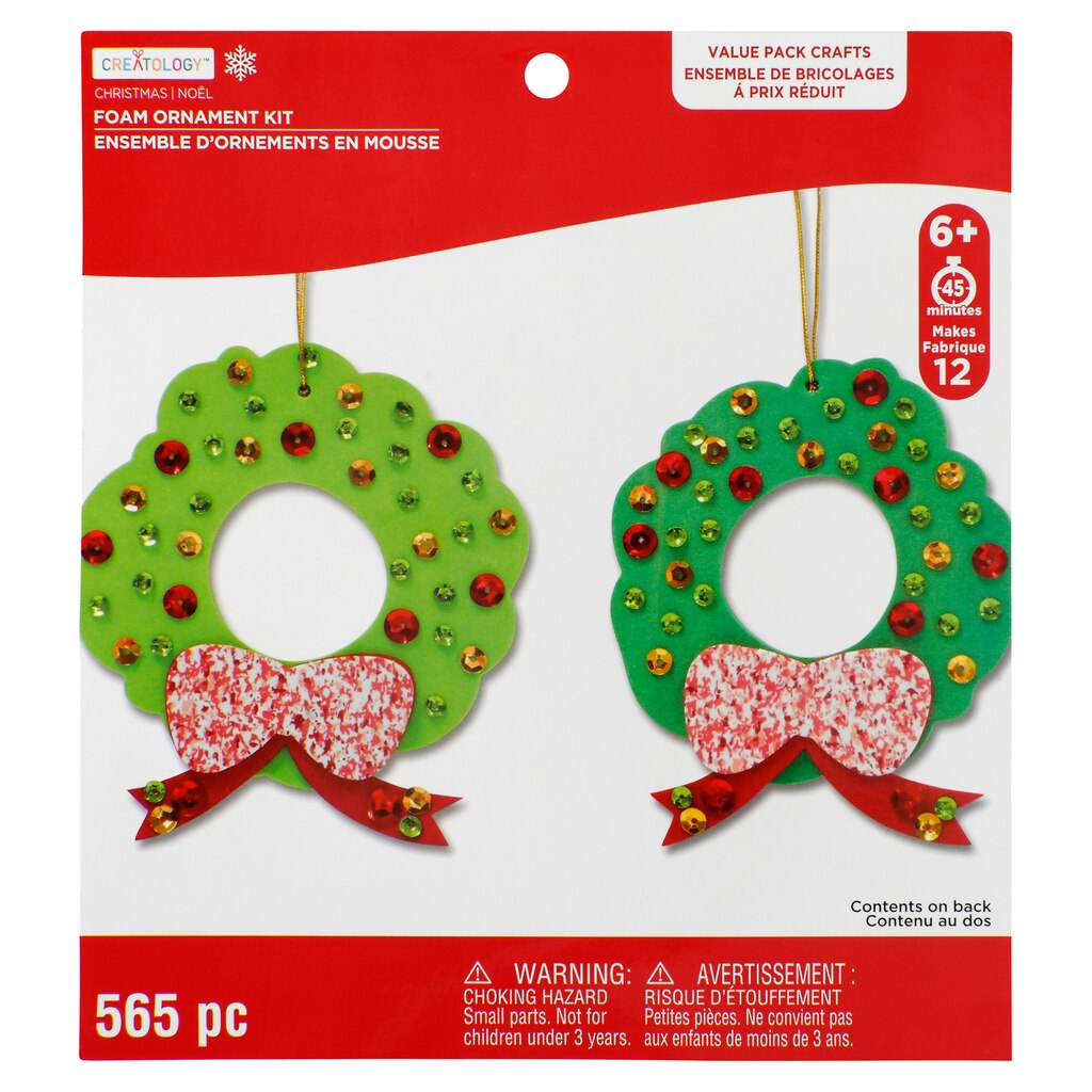 Shop for the Wreath Foam Ornament Kit By Creatology at Michaels