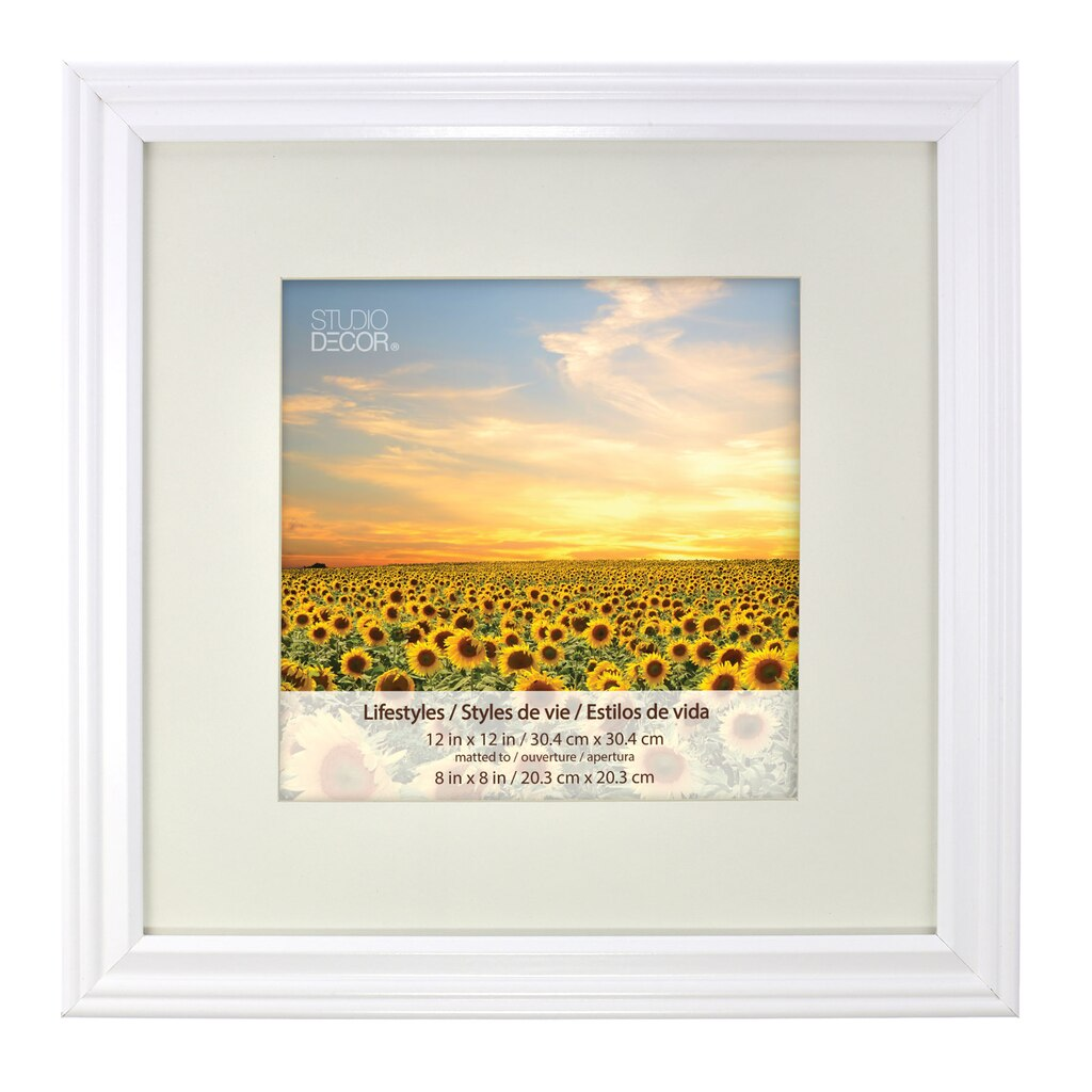 white square frame with mat lifestyles by studio dcor - White Frame With Mat