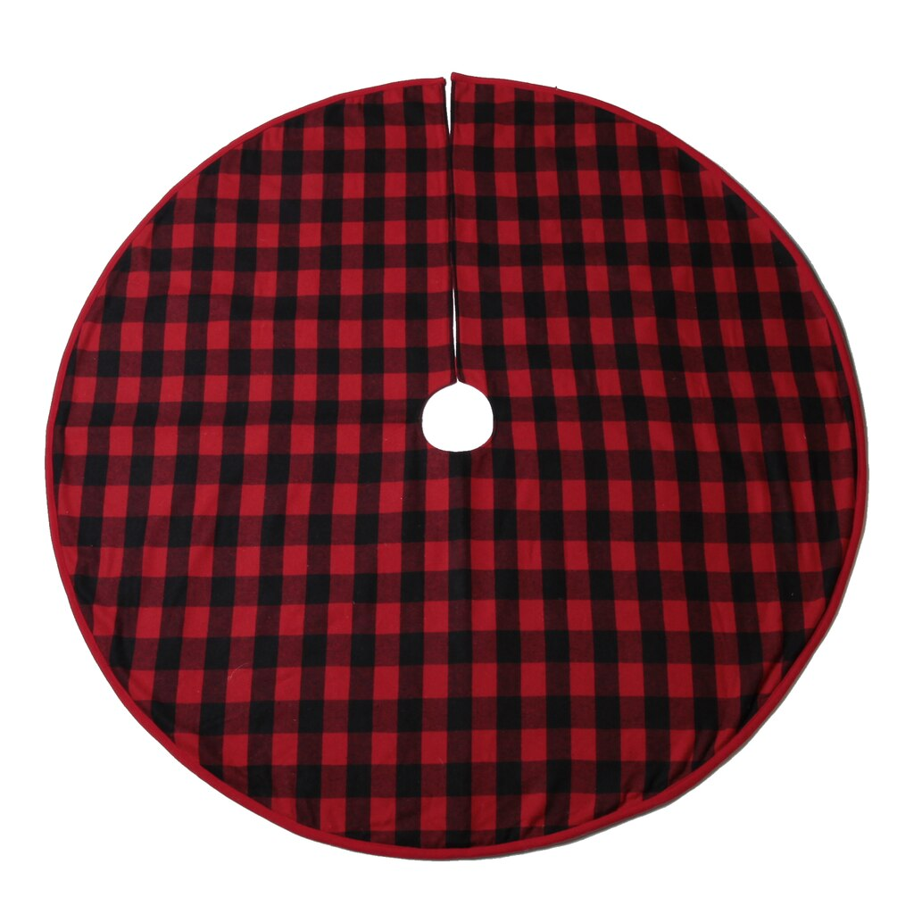 red black buffalo check tree skirt by ashland - Christmas Tree Skirts