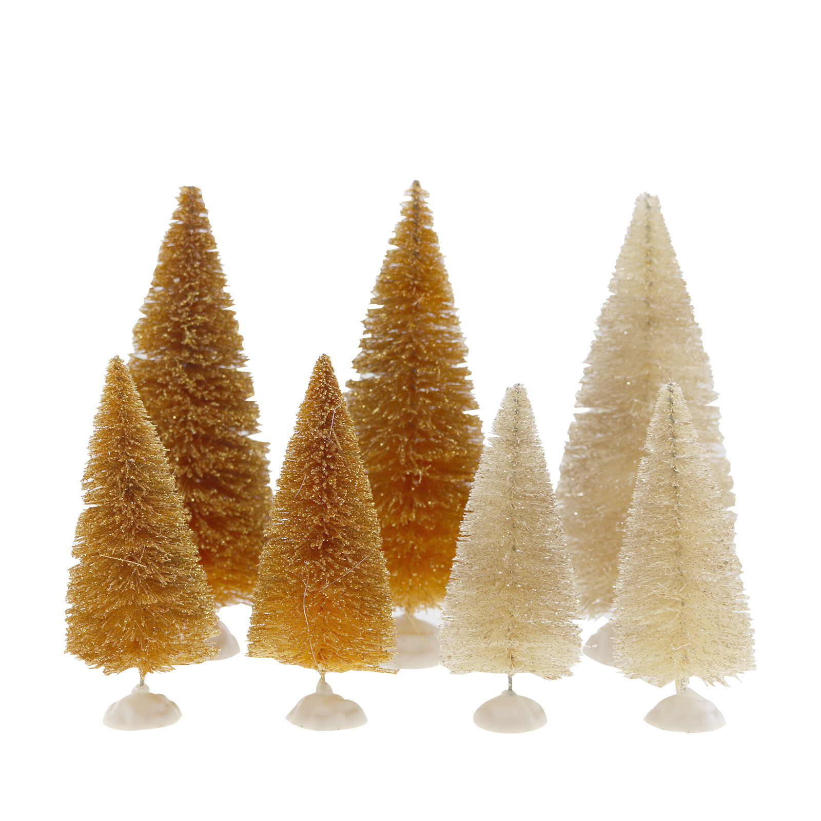 Shop for the Merry Minis Gold & White Christmas Trees By Celebrate ...