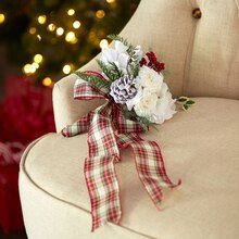 Plaid Christmas Stem Bundle Bouquet, medium