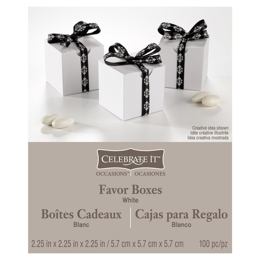 Celebrate It™ Occasions™ Favor Box, White