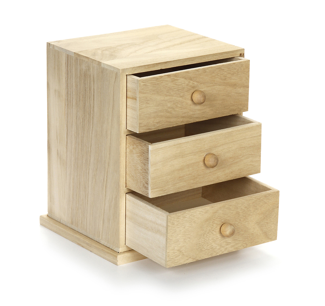 Small Wooden Cabinets ~ Small three drawer wooden cabinet