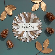 """Gather"" Leaf Wreath, medium"