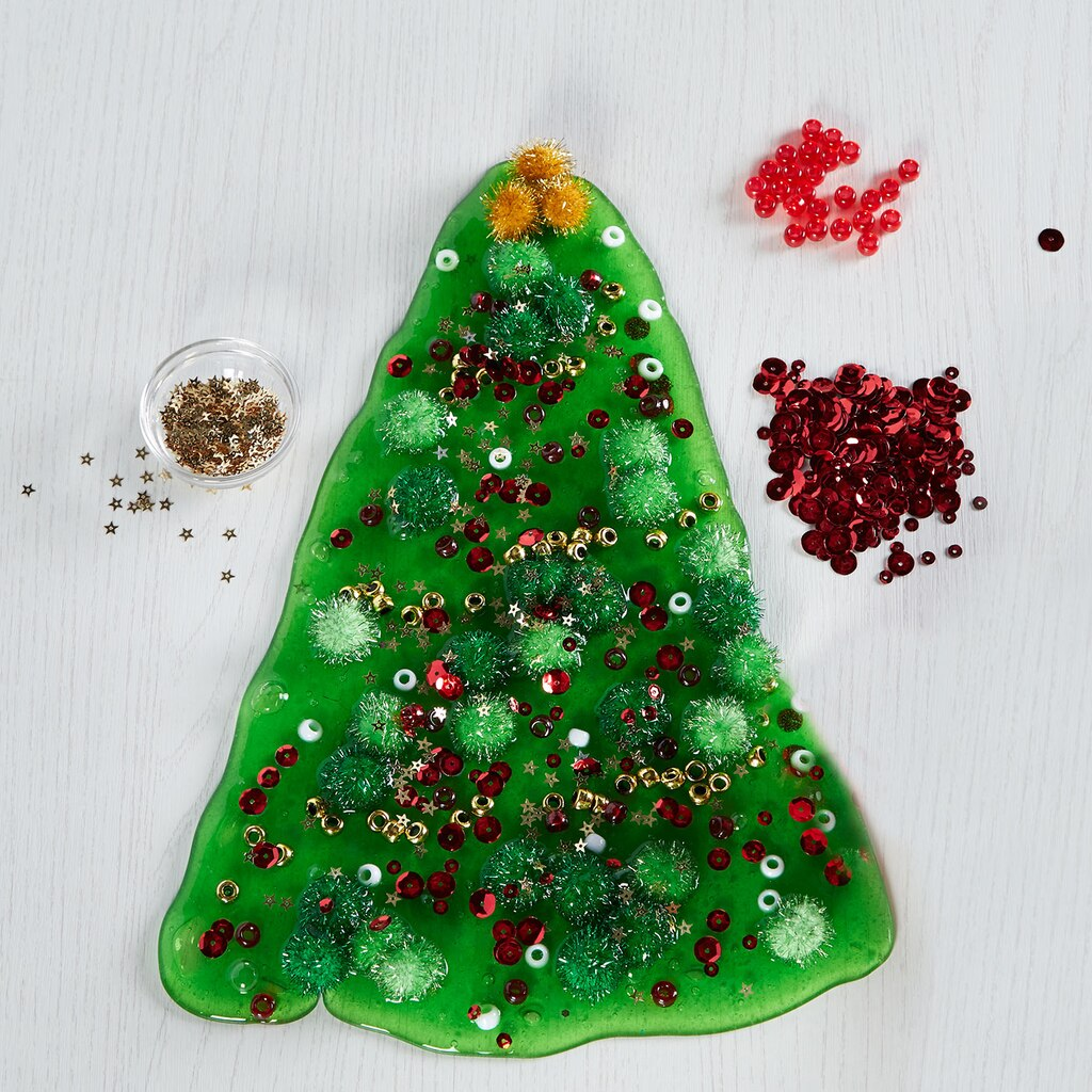 Christmas tree slime for Christmas trees at michaels craft store