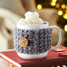 Crochet Coffee Cozy, medium