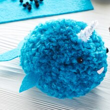 Loops & Threads® Charisma™ Pom Pom Narwhal, medium