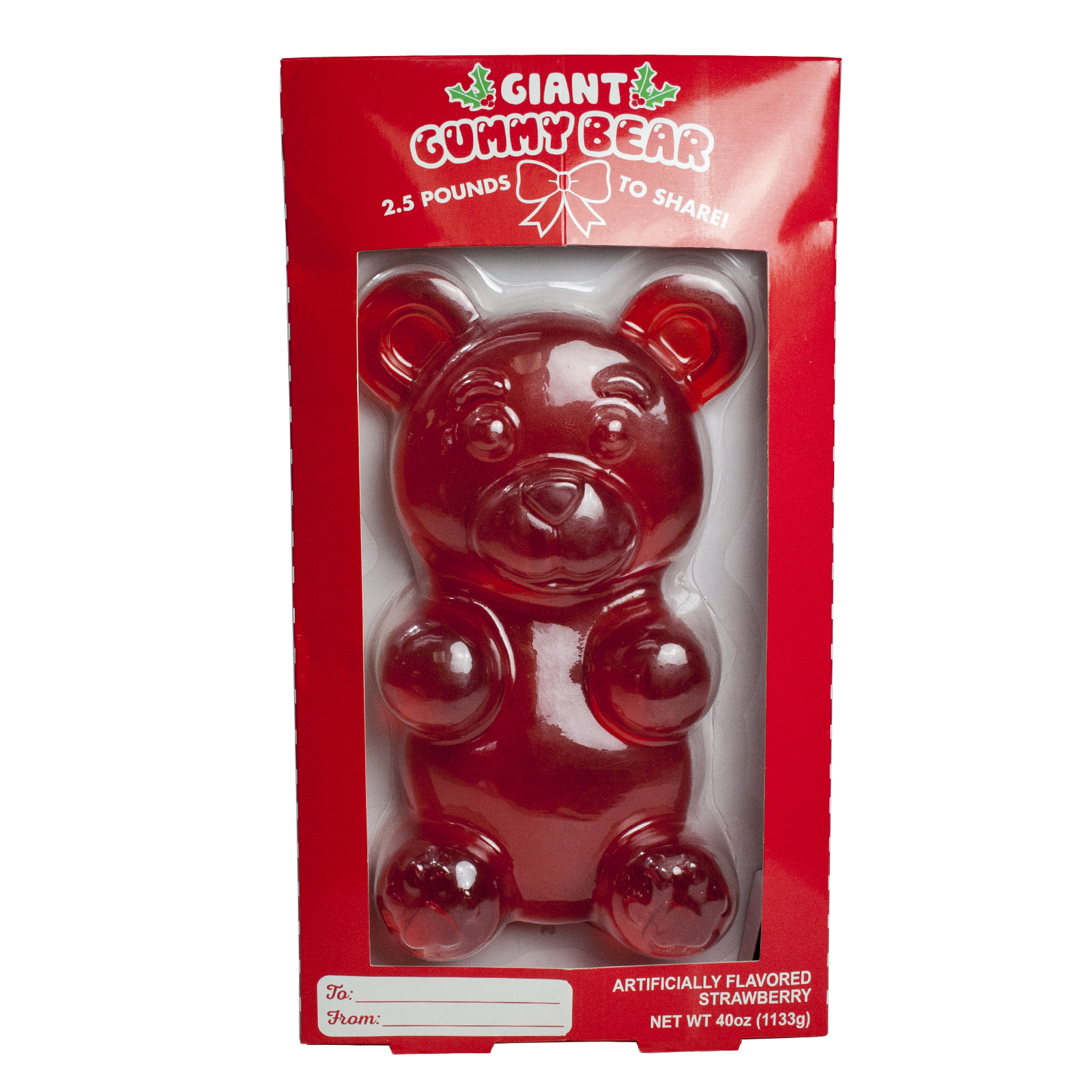 Giant gummy bear candy