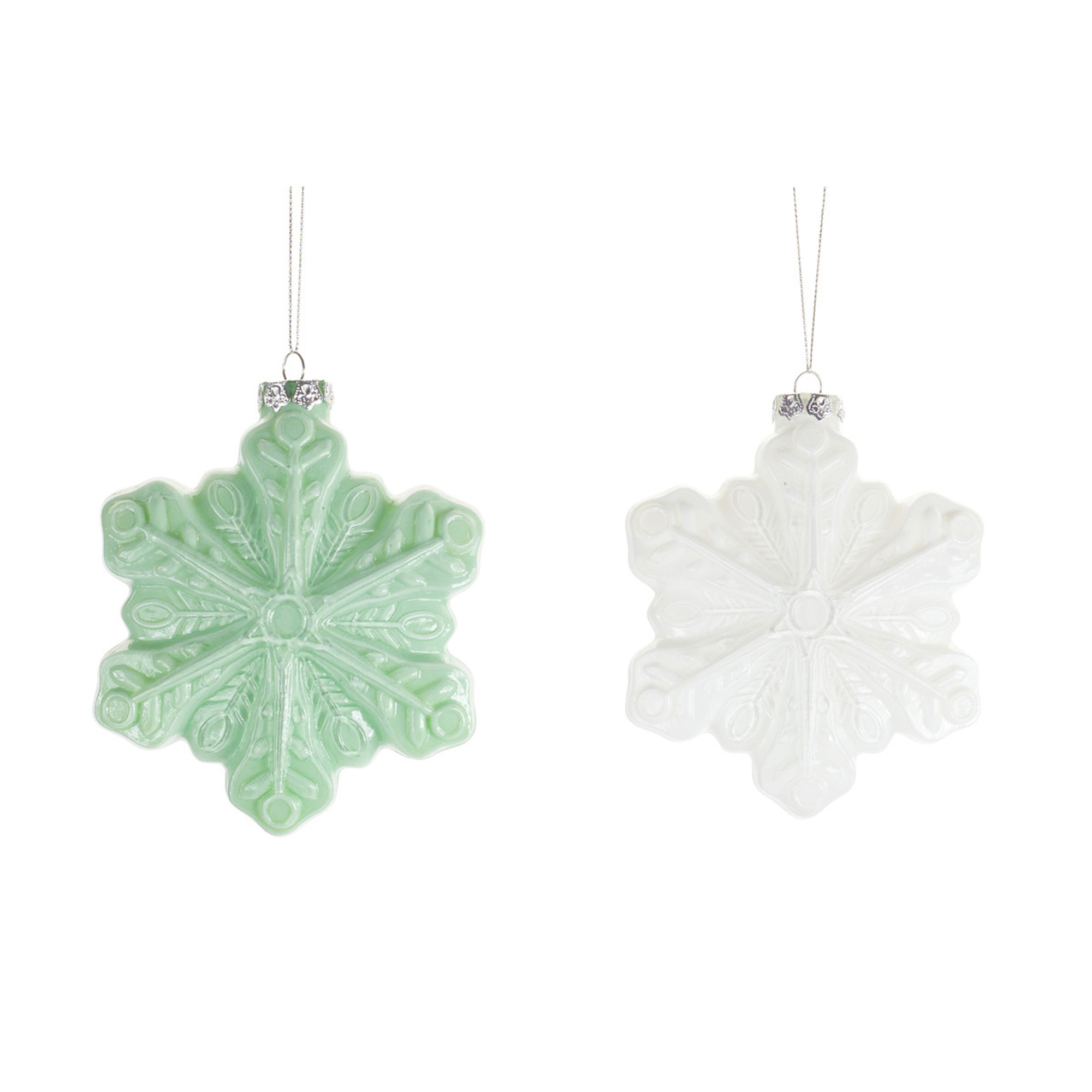Buy the 6ct Milk Glass Snowflake Ornaments at Michaels6ct Milk Glass Snowflake Ornaments - 웹