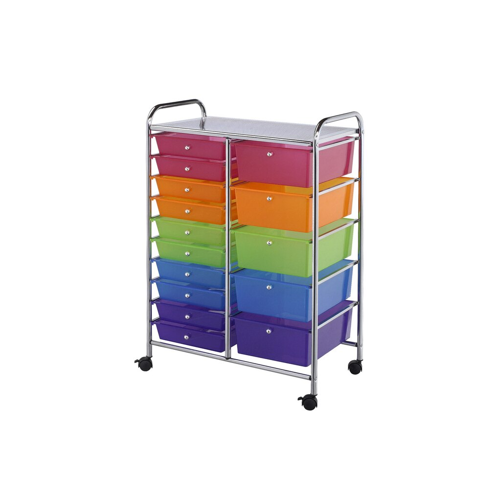 buy the darice rolling craft storage cart 15 drawers at