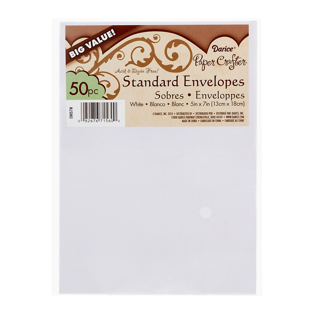 Buy the Darice® A7 Craft Envelopes: White, 50 pack at Michaels