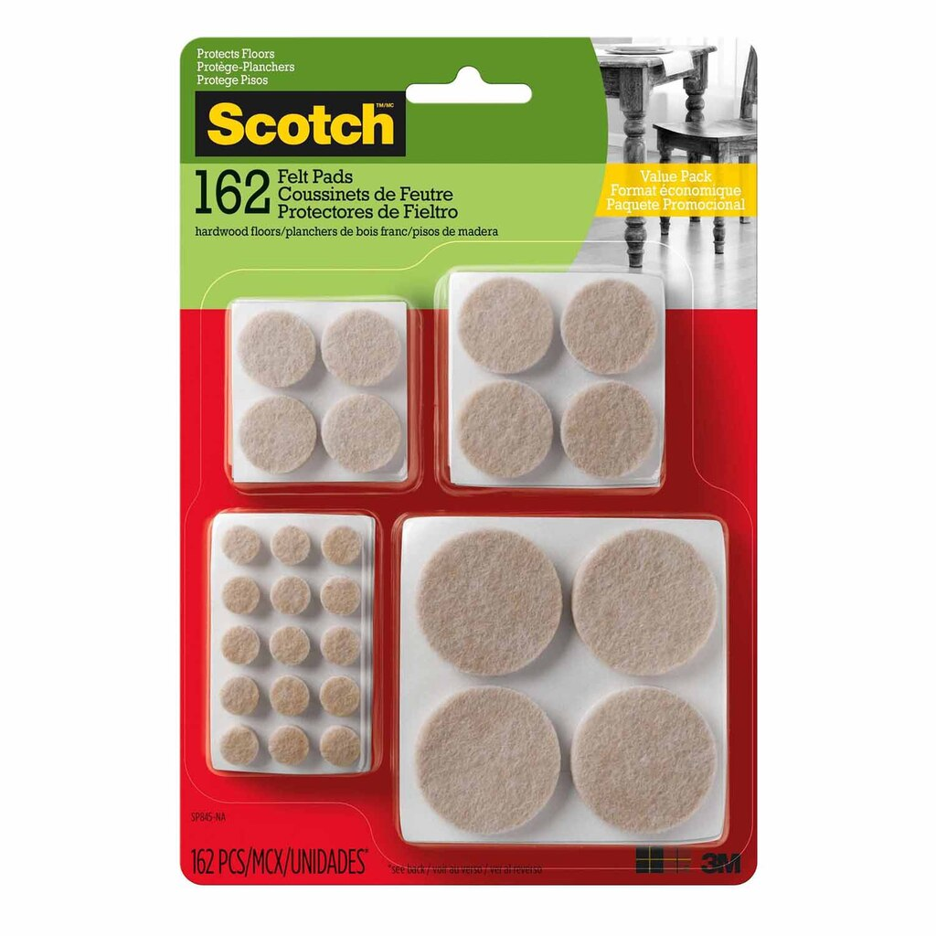 Shop for the Scotch™ Round Self-Adhesive Felt Pads Value Pack at ...