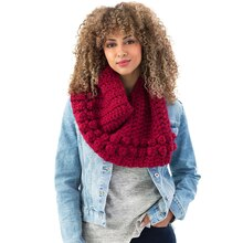 Lion Brand® Wool-Ease® Thick & Quick® Bonus Bundle Boothbay Bobble Crochet Cowl, medium