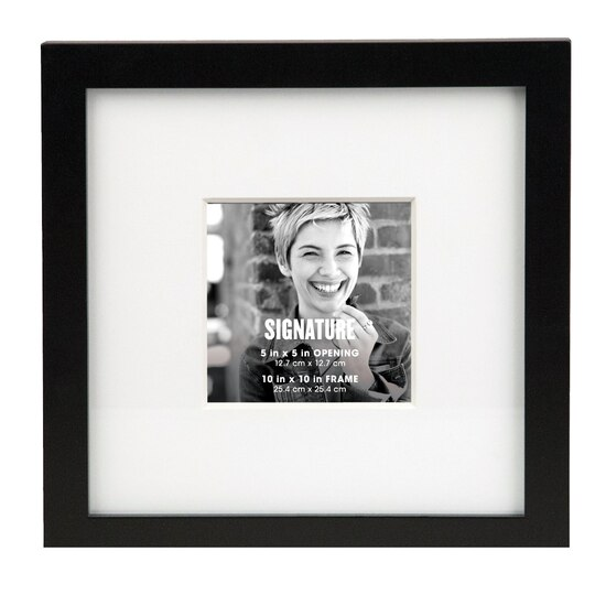 Black Square Signature Frame With Mat by Aaron Brothers