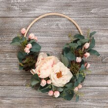 Hoop Wreath Transitional Floral Arrangement, medium