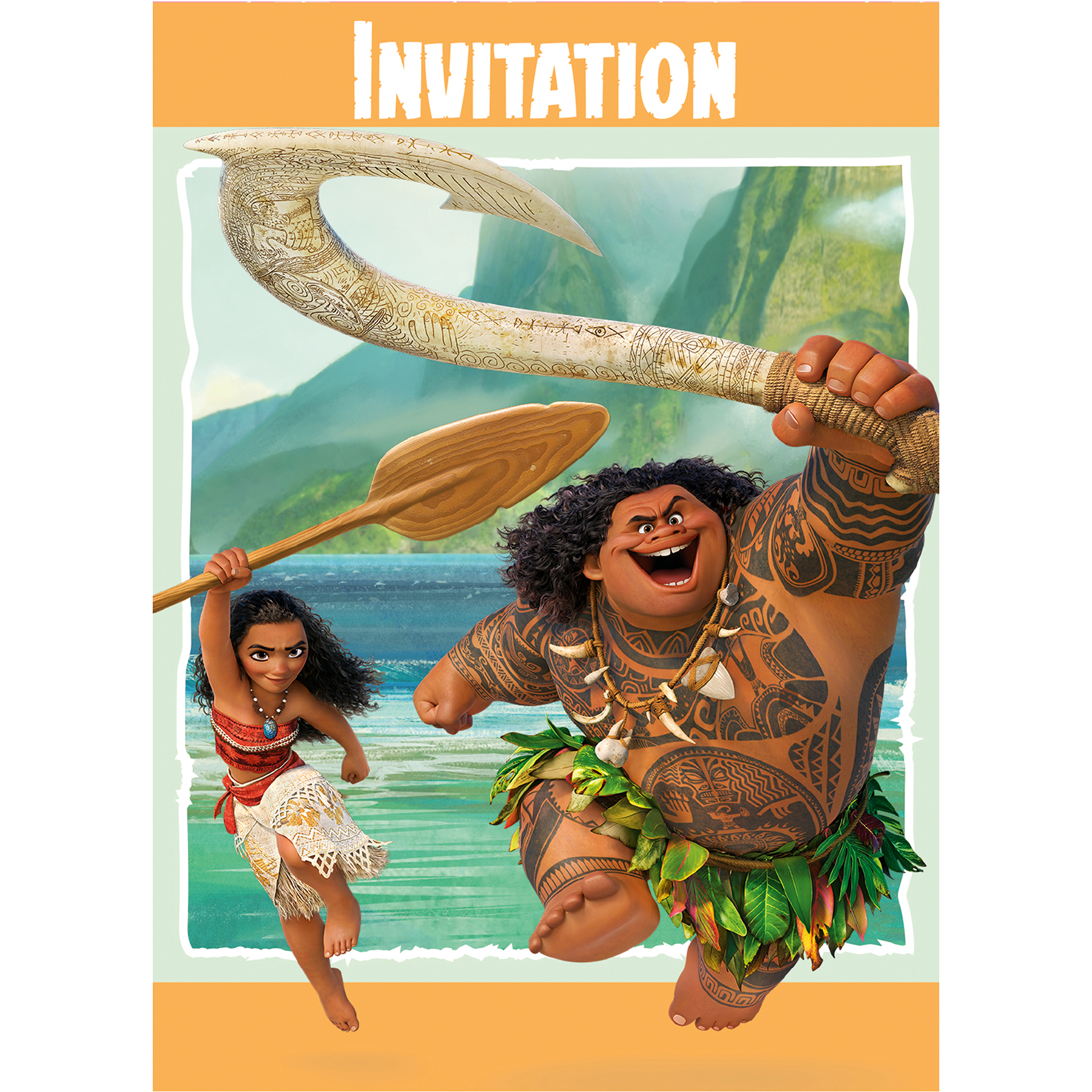 Disney Moana Party Invitations Disney Moana Party Supplies