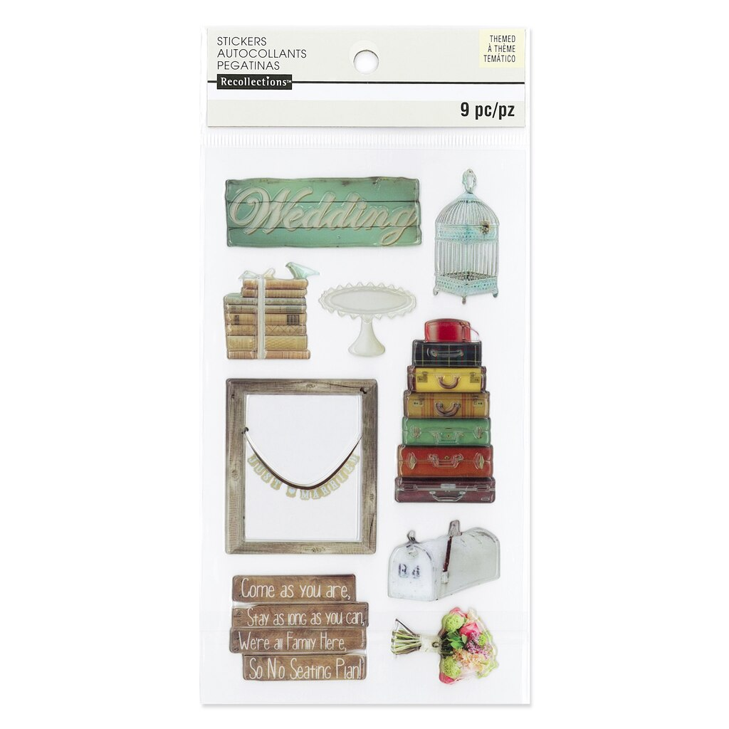Find the Flat Photo Real Wedding Stickers By Recollections™ at Michaels