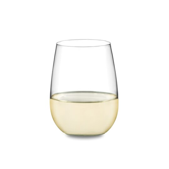 Libbey Stemless Wine Set 12 Count White