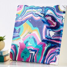 Stacked Canvas Paint Pouring Art, medium