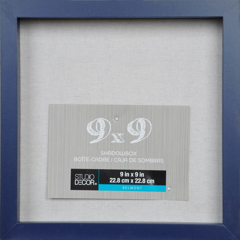 Shadow boxes michaels navy belmont shadow box by studio dcor jeuxipadfo Image collections