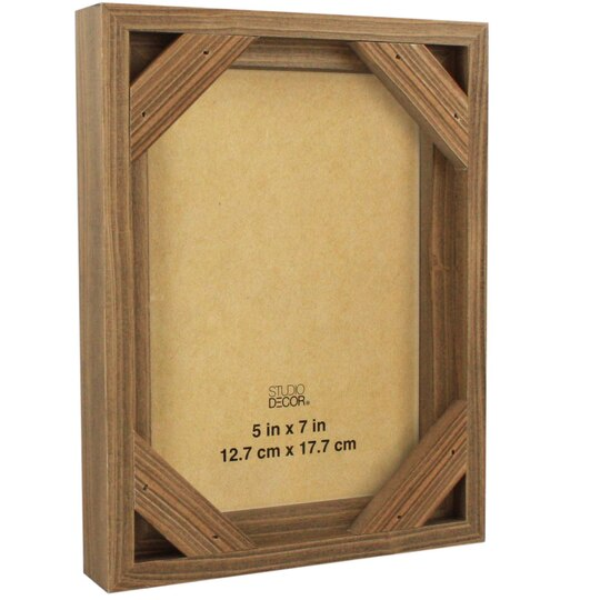 Shop for the Natural Wooden Frame with Corner By Studio Décor®, 5in ...