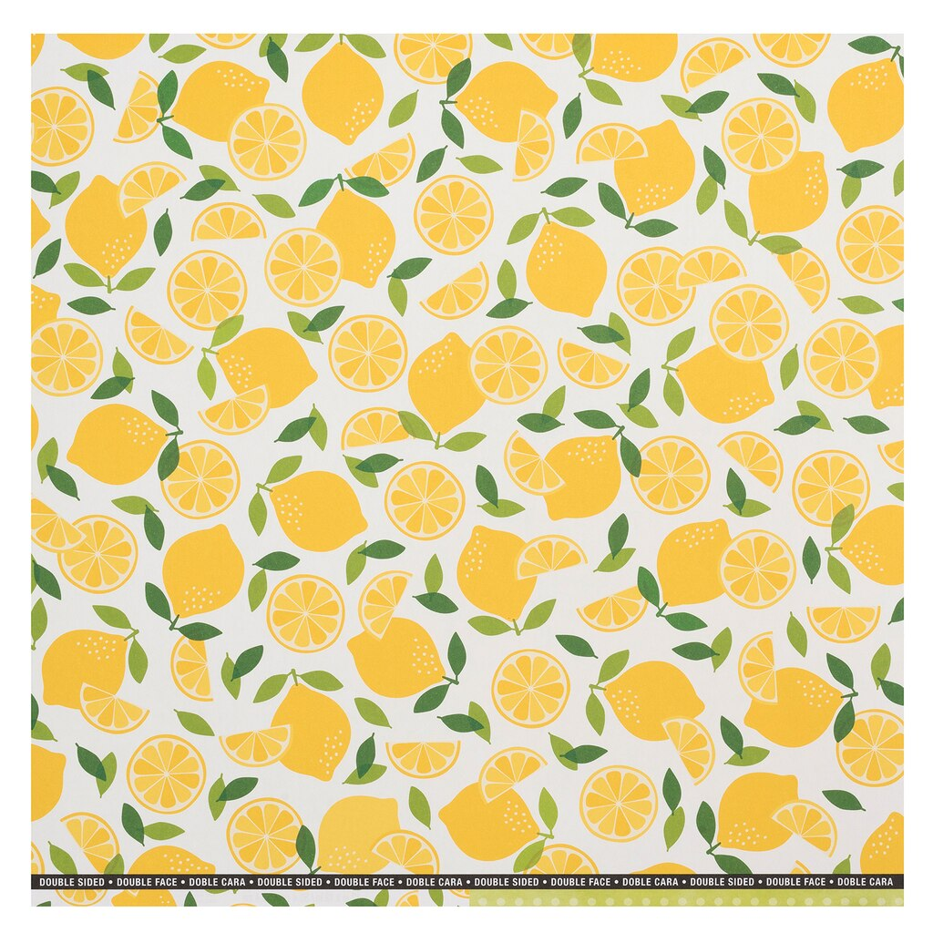 Buy the Yellow Lemons Double-Sided Scrapbook Paper By Recollections ...