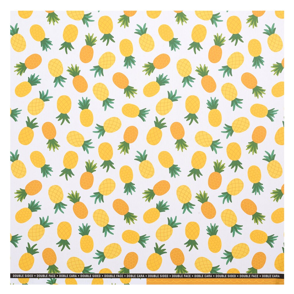 Shop for the White Pineapple Double-Sided Scrapbook Paper By ...